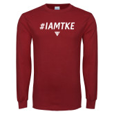 Cardinal Long Sleeve T Shirt-#IAMTKE w/ Houseplate