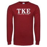 Cardinal Long Sleeve T Shirt-TKE Chapter Name