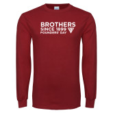 Cardinal Long Sleeve T Shirt-Brothers Since 1899