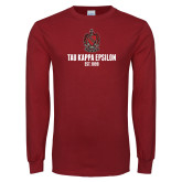 Cardinal Long Sleeve T Shirt-Coat of Arms Established Year Stacked