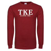 Cardinal Long Sleeve T Shirt-TKE Alumni Year