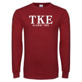 Cardinal Long Sleeve T Shirt-TKE Alumni Year