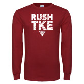 Cardinal Long Sleeve T Shirt-Rush TKE
