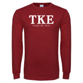 Cardinal Long Sleeve T Shirt-TKE Class Of