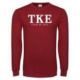 Cardinal Long Sleeve T Shirt-TKE Class Of