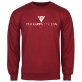 Cardinal Fleece Crew-House Plate Tau Kappa Epsilon