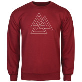 Cardinal Fleece Crew-Interlocking Triangles