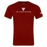 Adidas Cardinal Logo T Shirt-House Plate Tau Kappa Epsilon