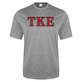 Performance Grey Heather Contender Tee-TKE