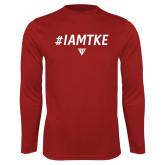 Performance Cardinal Longsleeve Shirt-#IAMTKE w/ Houseplate