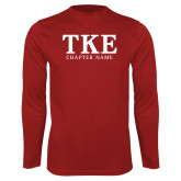 Performance Cardinal Longsleeve Shirt-TKE Chapter Name