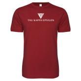 Next Level SoftStyle Cardinal T Shirt-House Plate Tau Kappa Epsilon