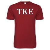 Next Level SoftStyle Cardinal T Shirt-TKE