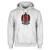 White Fleece Hoodie-Coat of Arms