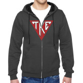 Charcoal Fleece Full Zip Hoodie-Houseplate