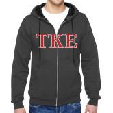 Charcoal Fleece Full Zip Hood-TKE