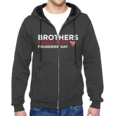 Charcoal Fleece Full Zip Hoodie-Brothers Since 1899