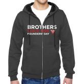 Charcoal Fleece Full Zip Hood-Brothers Since 1899