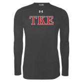 Under Armour Carbon Heather Long Sleeve Tech Tee-TKE