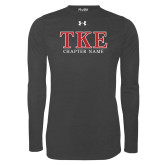 Under Armour Carbon Heather Long Sleeve Tech Tee-TKE Chapter Name