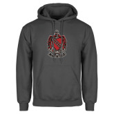 Charcoal Fleece Hoodie-Coat of Arms