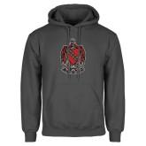 Charcoal Fleece Hood-Coat of Arms