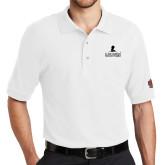 White Easycare Pique Polo-St. Jude Minimal Logo
