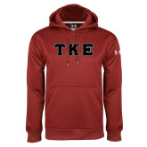 Under Armour Cardinal Performance Sweats Team Hoodie-Greek Letters Tackle Twill