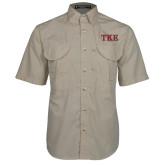 Khaki Short Sleeve Performance Fishing Shirt-TKE