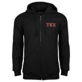 Black Fleece Full Zip Hoodie-TKE