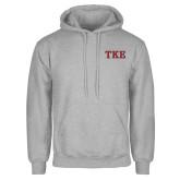 Grey Fleece Hoodie-TKE