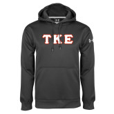 Under Armour Carbon Performance Sweats Team Hoodie-Greek Letters Tackle Twill