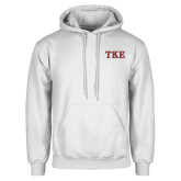White Fleece Hoodie-TKE