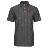Nike Dri Fit Charcoal Embossed Polo-Coat of Arms