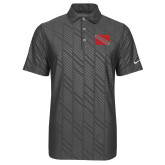Nike Dri Fit Charcoal Embossed Polo-Flag