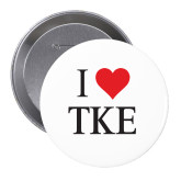 2.25 inch Round Button-I heart TKE Button