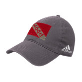 Adidas Charcoal Slouch Unstructured Low Profile Hat-Flag