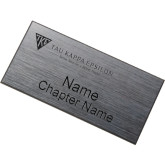 Brushed Silver w/ Black Name Badge-House Plate Better Men for a Better World Flat Engraved