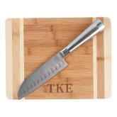 Oneida Cutting Board and Santoku Knife Set-TKE Engraved