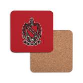 Hardboard Coaster w/Cork Backing-Coat of Arms