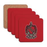 Hardboard Coaster w/Cork Backing 4/set-Coat of Arms