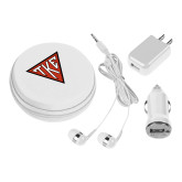3 in 1 White Audio Travel Kit-Houseplate