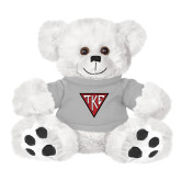 Plush Big Paw 8 1/2 inch White Bear w/Grey Shirt-Houseplate