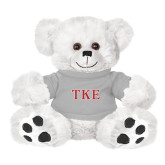 Plush Big Paw 8 1/2 inch White Bear w/Grey Shirt-TKE