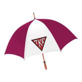 62 Inch Cardinal/White Umbrella-Houseplate