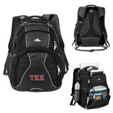 High Sierra Swerve Black Compu Backpack-TKE