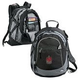 High Sierra Black Fat Boy Day Pack-Coat of Arms