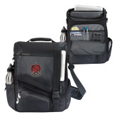 Momentum Black Computer Messenger Bag-Coat of Arms