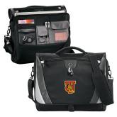 Slope Black/Grey Compu Messenger Bag-TU Warrior Symbol