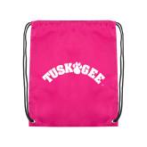 Pink Drawstring Backpack-Arched Tuskegee